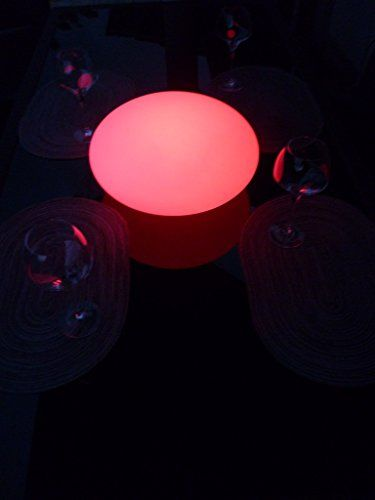 Led Leuchtkugel Flachkugel Tischlampe 40 X 20 Cm Multicolor Mit Farbwechsel Und Fernbedienung Aufladbar Led Highlights Http W Farbwechsel Led Fernbedienung