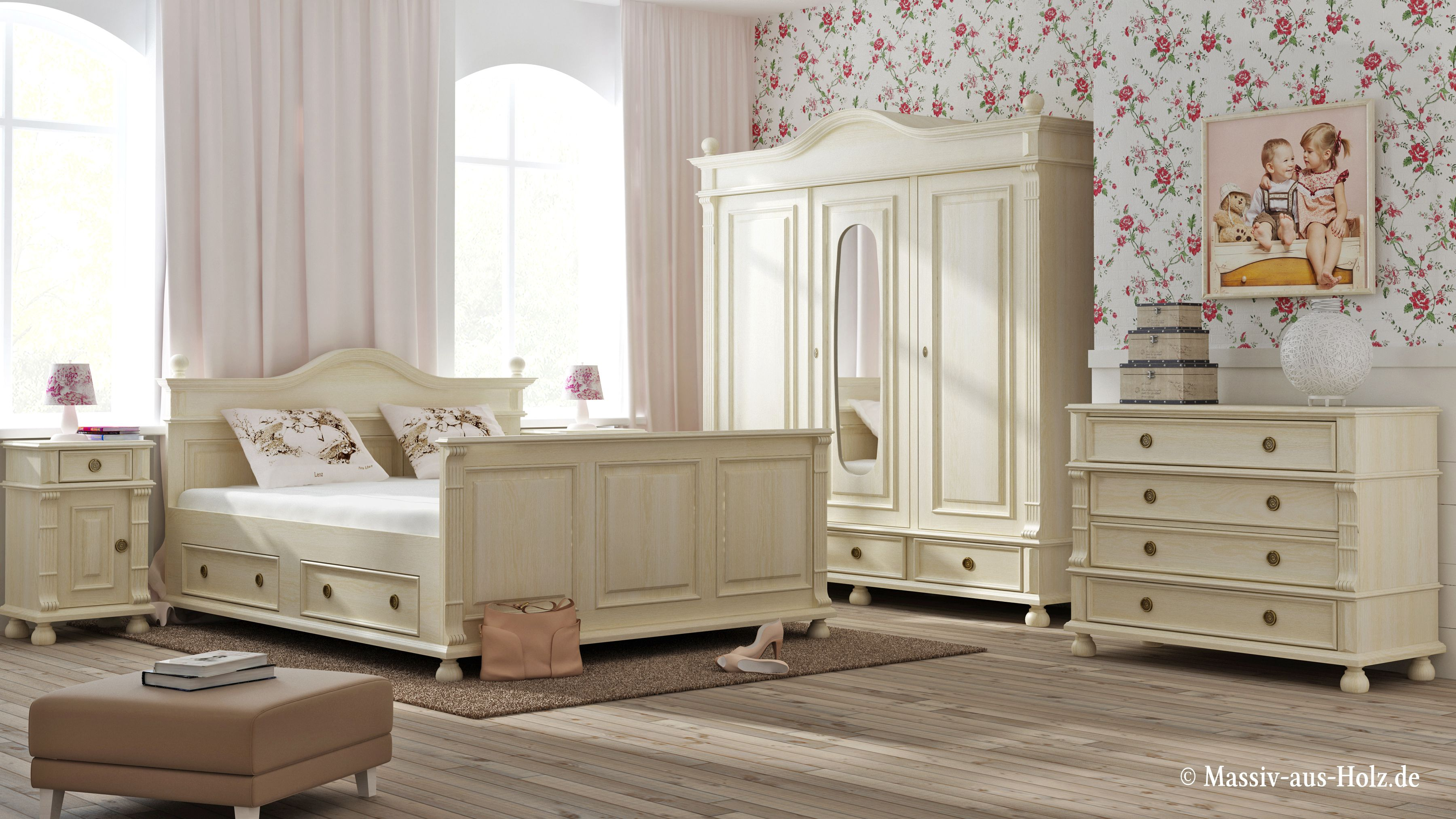 Wer Landhaus mag, wird von dem Schlafzimmer begeistert sein! www ...