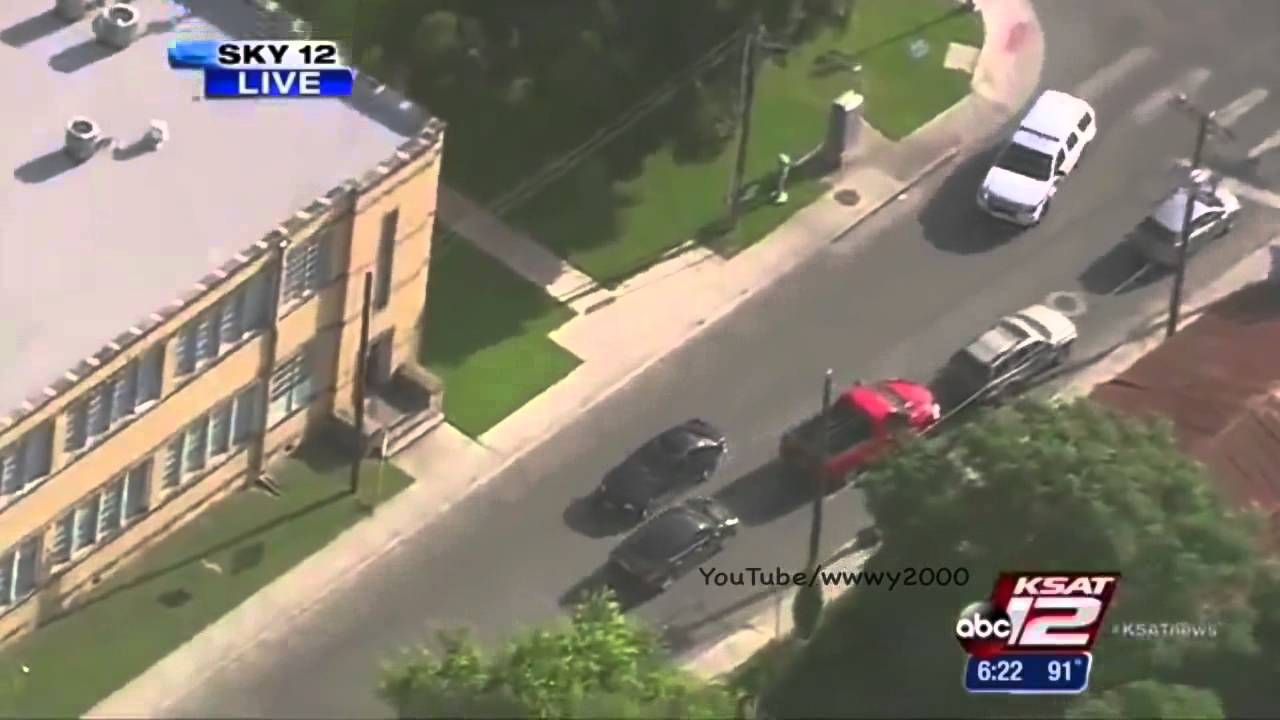Texas High Speed Police Chase BMW Street Drifting Suspect Through