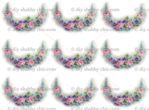 High Quality French Furniture Decal Diy Shabby Chic Image Transfer Vintage Floral Flower