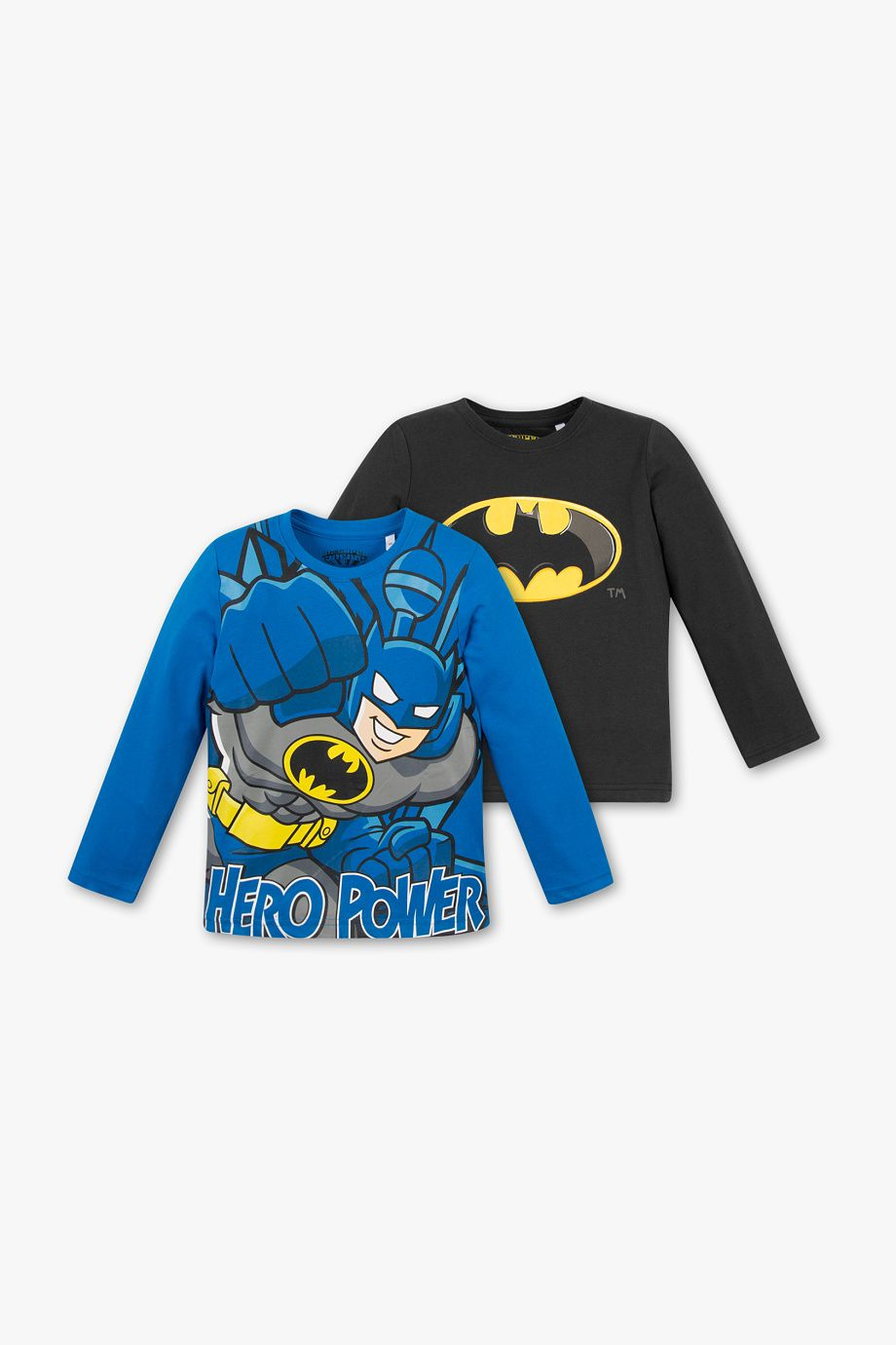 d2d0dc436 Niños - Camiseta de manga larga con Batman - Algodón orgánico - Pack de 2 -  estampado multicolor