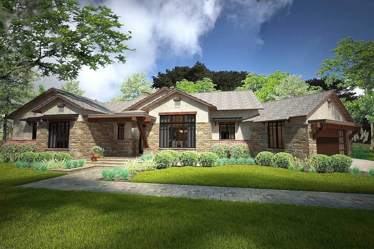 Plan 16852WG: Rustic Craftsman Cottage with Bonus ...