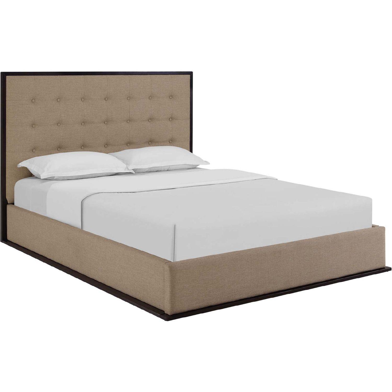 Modway Mod 5499 Cap Caf Madeline Queen Upholstered Bed Frame