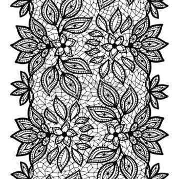 Dentelle Dessin dentelle dessin: vieux motif de dentelle transparente, bordure