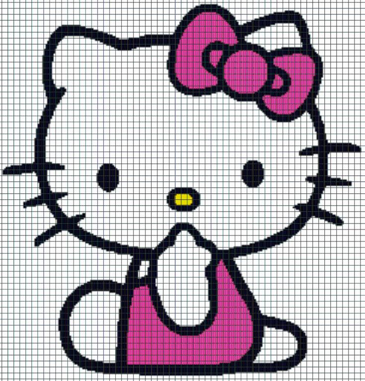 HELLO KITTY Graphghan Pattern - 2014 Crochet Patterns - patterns ...