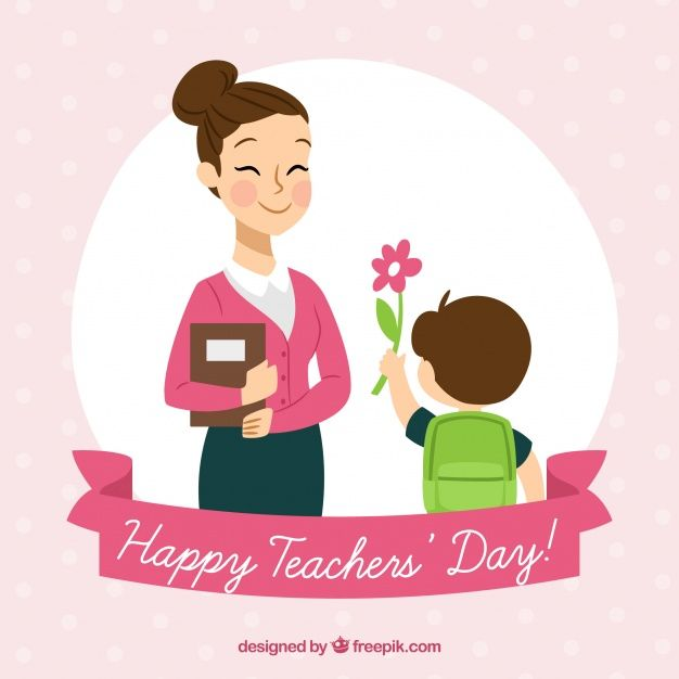 Download Child Presenting A Flower To His Teacher For Free Happy Teachers Day Teachers Day Drawing Teachers Day Wishes