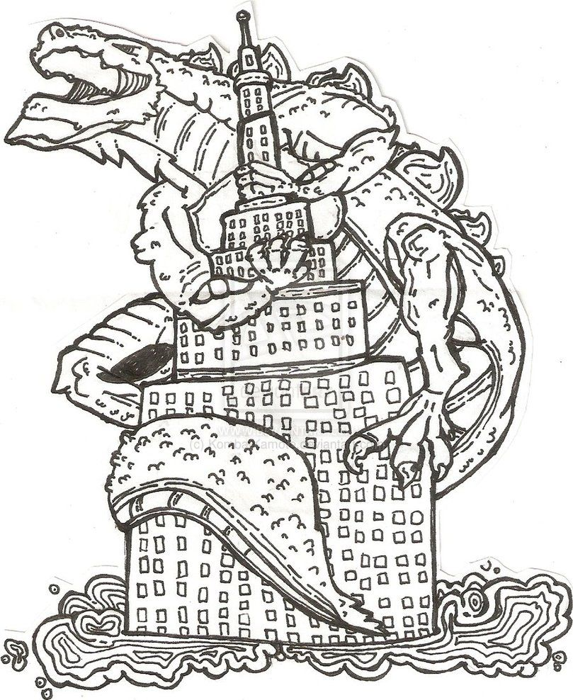 godzilla coloring pages pictures imagixs
