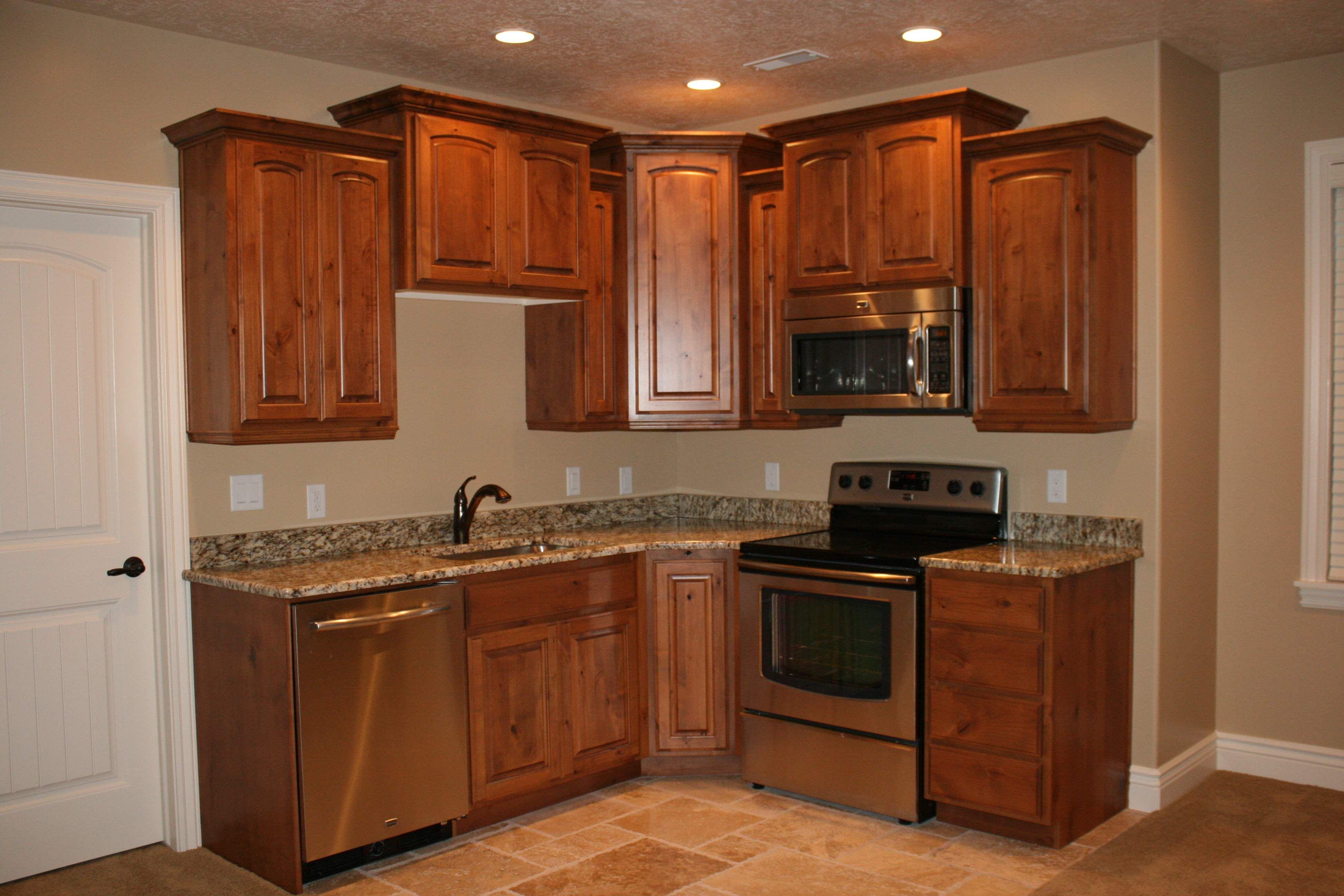 no backsplash   Basement kitchen, Small basement kitchen ...