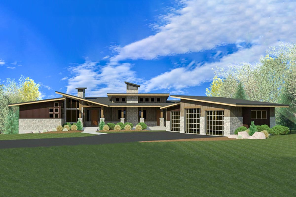 Modern Prairie House Plan with Expansion Possibilities