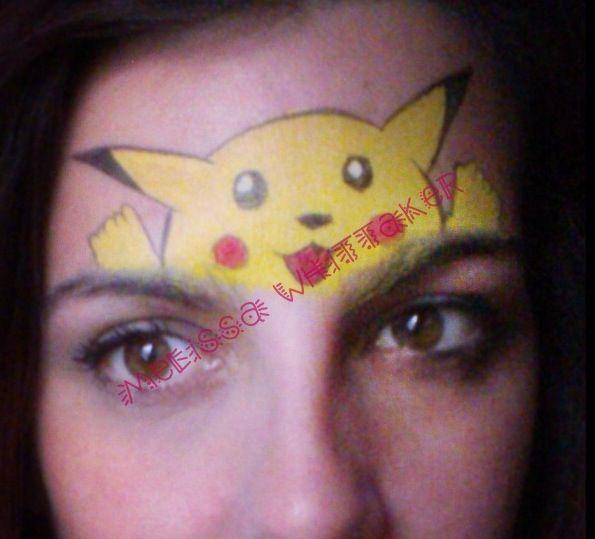Pokemon Face Painting Pikachu Face Painting Face Painting Halloween Face Painting Designs