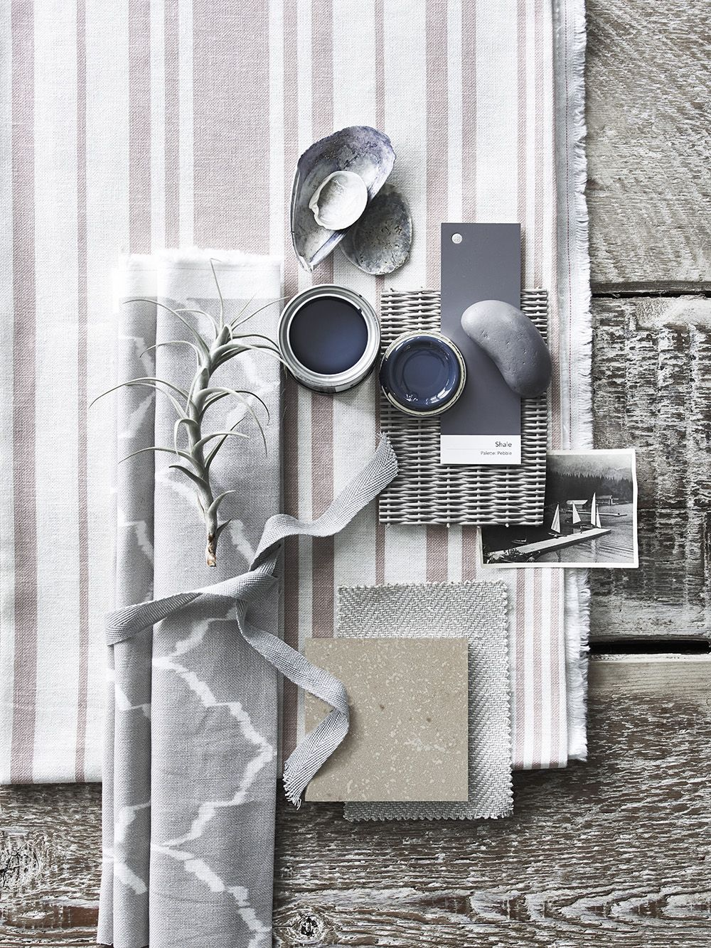 neutral stripes and loose patterns, light and dark colors, natural ...