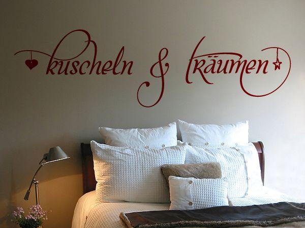 Schönes Wandtattoo fürs Schlafzimmer. | Wandworte | Pinterest ...
