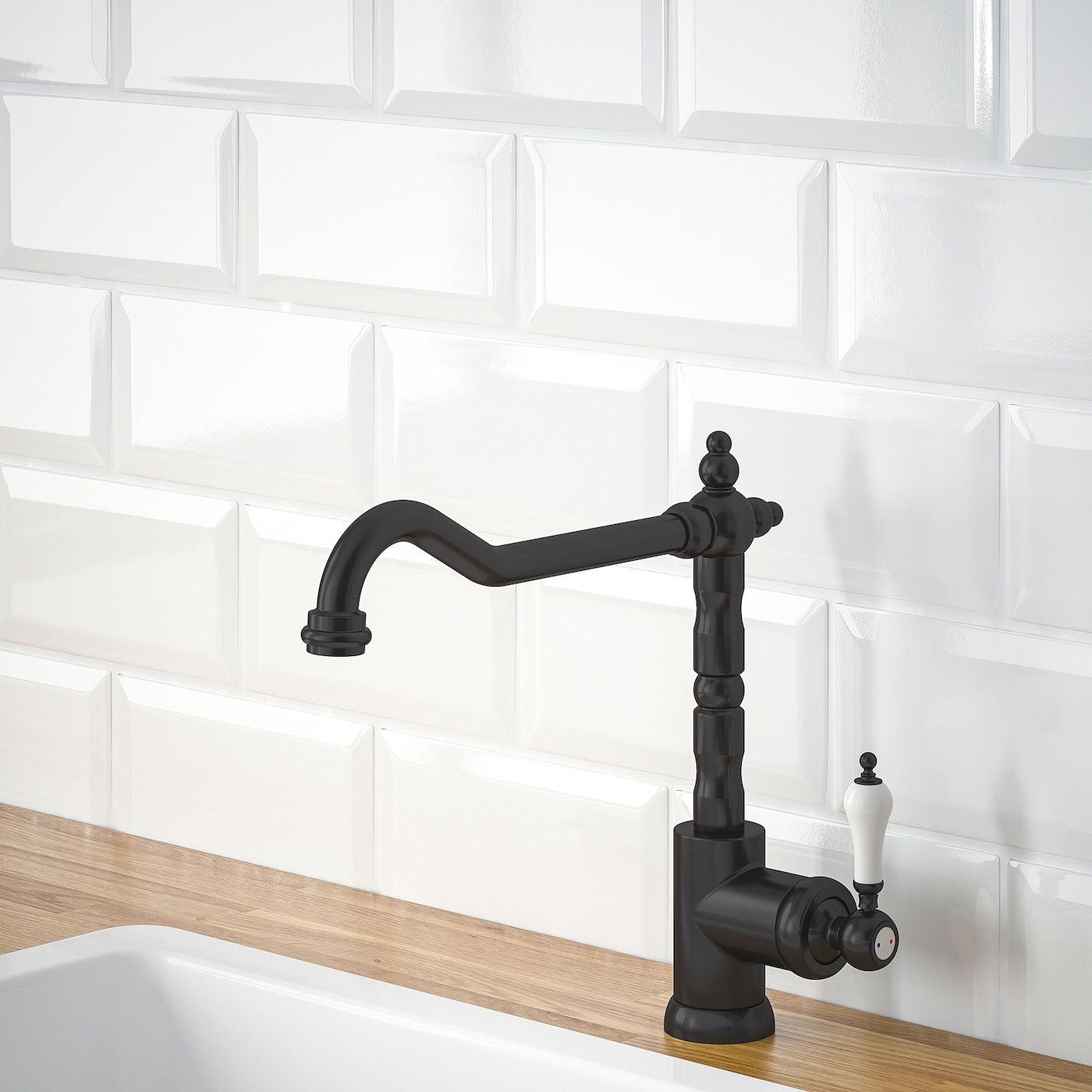 IKEA GLITTRAN Kitchen faucet black in