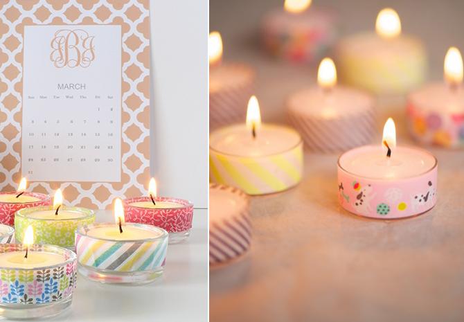 מה זה הוואשי טייפ הזה | DIY | Washi Tape, Tea candles und ...