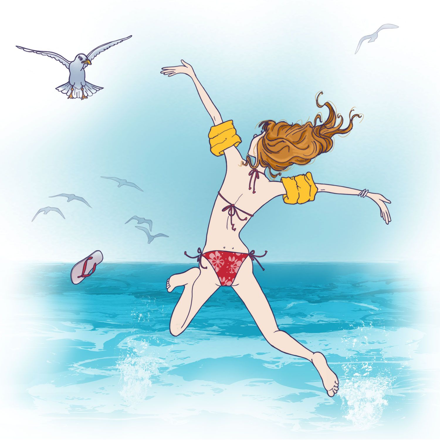 Illustration t mer vacances images in 2018 pinterest illustration dessin and dessin - Dessin vacances mer ...
