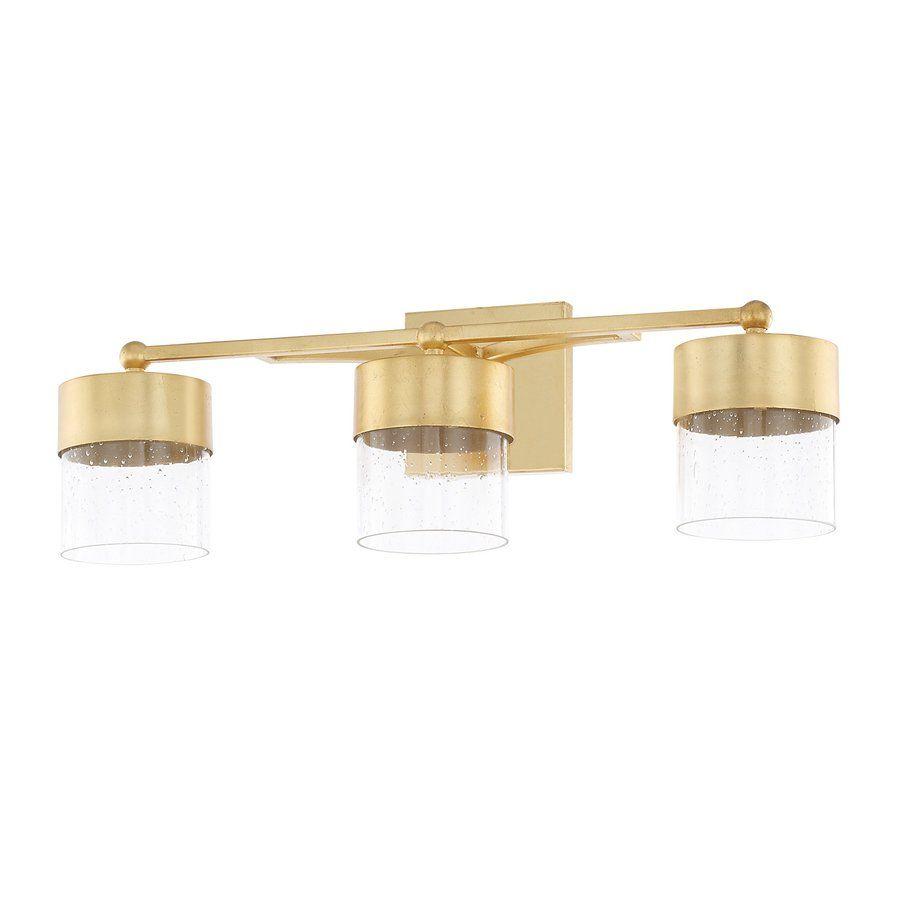Depaz 3 Light Led Vanity Light With Clear Seeded Glass