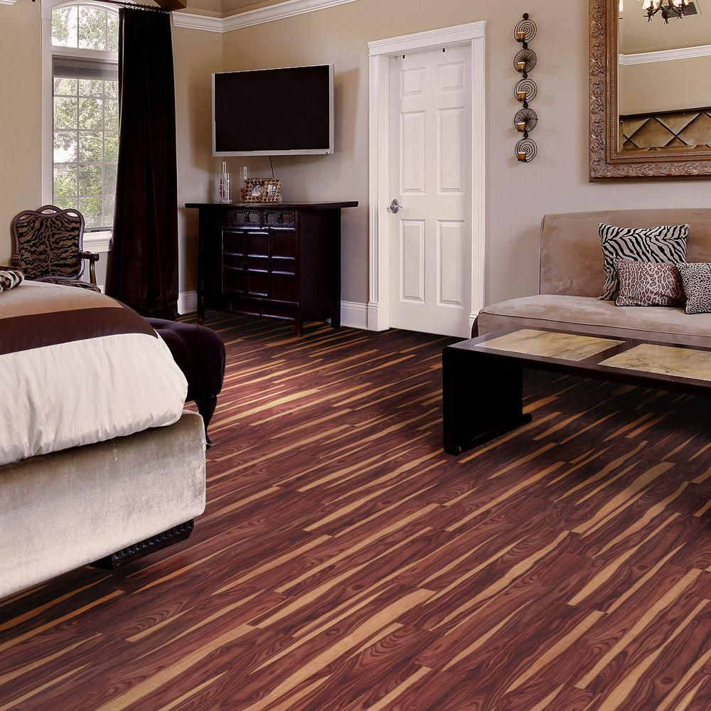 Trafficmaster Allure 6 In X 36 African Wood Dark Resilient Vinyl Plank Flooring 24 Sq Ft Case 57111 0 At The Home Depot