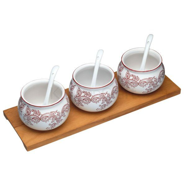 World of Flavours Indian Chutney Serving Set
