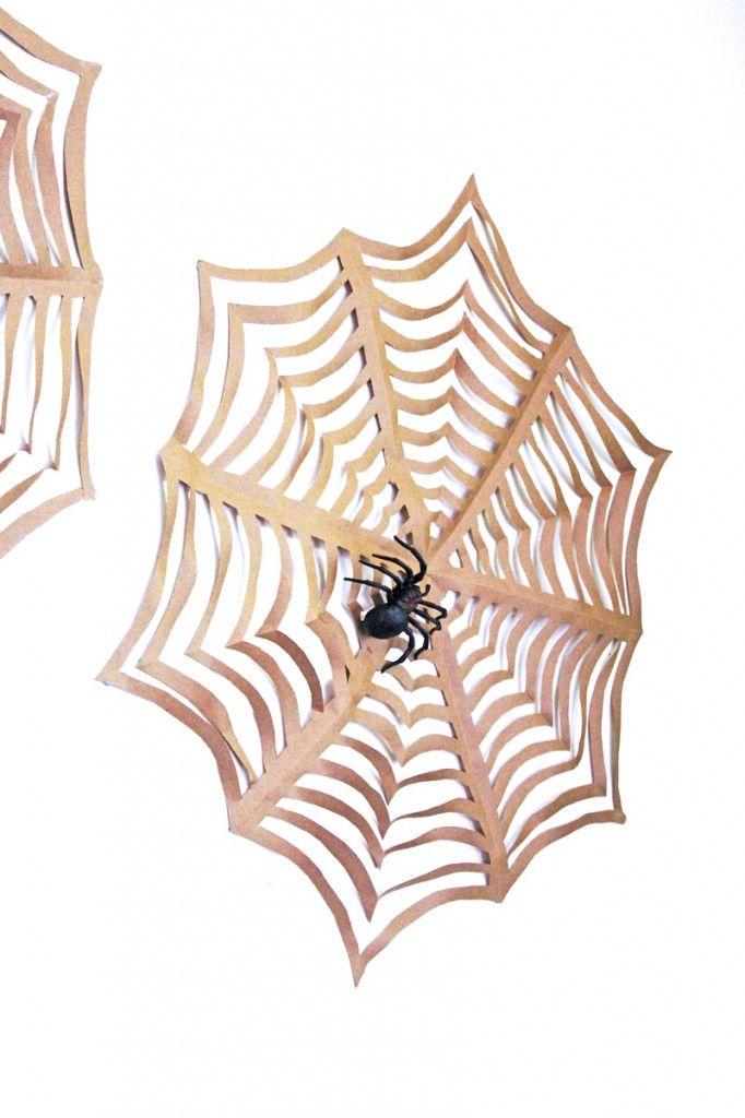 Halloween Craft GIANT Kirigami Spider Webs Kirigami, Spider webs - halloween decorations spider