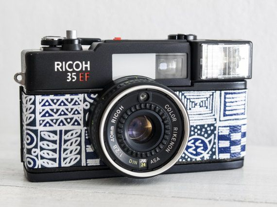 Ricoh 35 EF + f:2.8! RARE functional vintage 35 mm film camera, point and shoot for lomography + Neckstrap, Genuine leather, New lightseals!