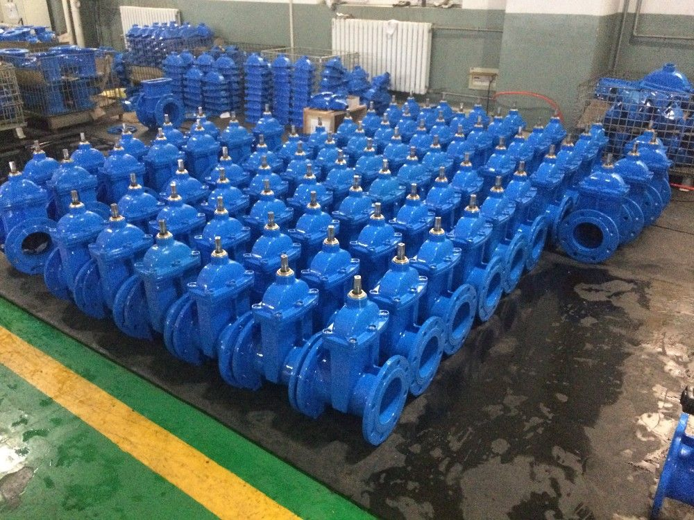 DIN3352 F5 NRS Resilient wedge gate valve - china NRS gate