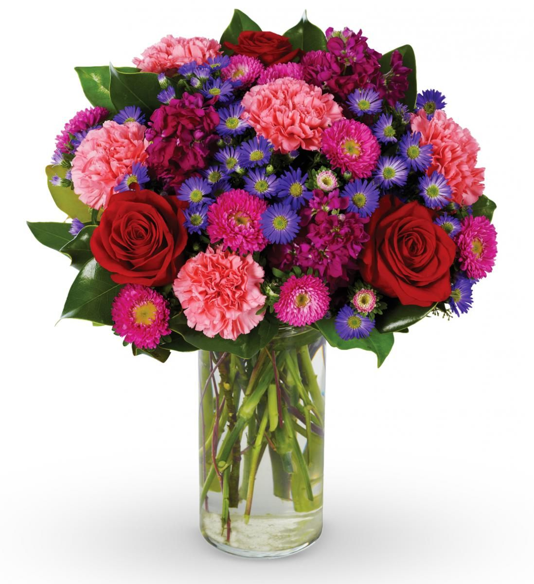 Rose and Carnation Mixed Bouquet Online flower delivery