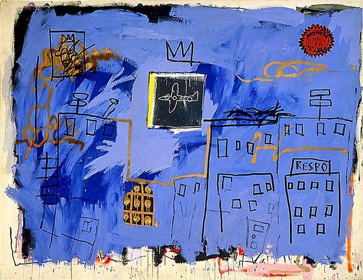 Jean-Michel Basquiat foi um artista americano. Ganhou popularidade primeiro como um grafiteiro na cidade onde nasceu e então como neo-expressionista. Untitled 1981. Acrylic, spray paint, and oil paintstick on canvas. Courtesy The Stephanie and Peter Brant Foundation, Greenwich, ...