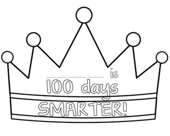 100 days of school glasses for students students for 100th day of school crown template