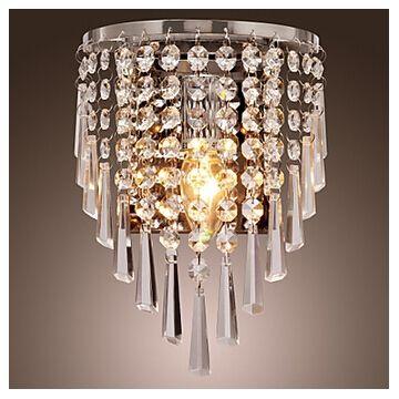 Semi Circular Wall Light In Crystal Feature Modern Crystal