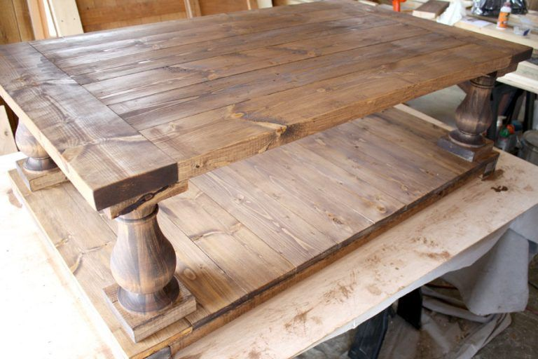 DIY Restoration Hardware-inspired Coffee Table #restorationhardware