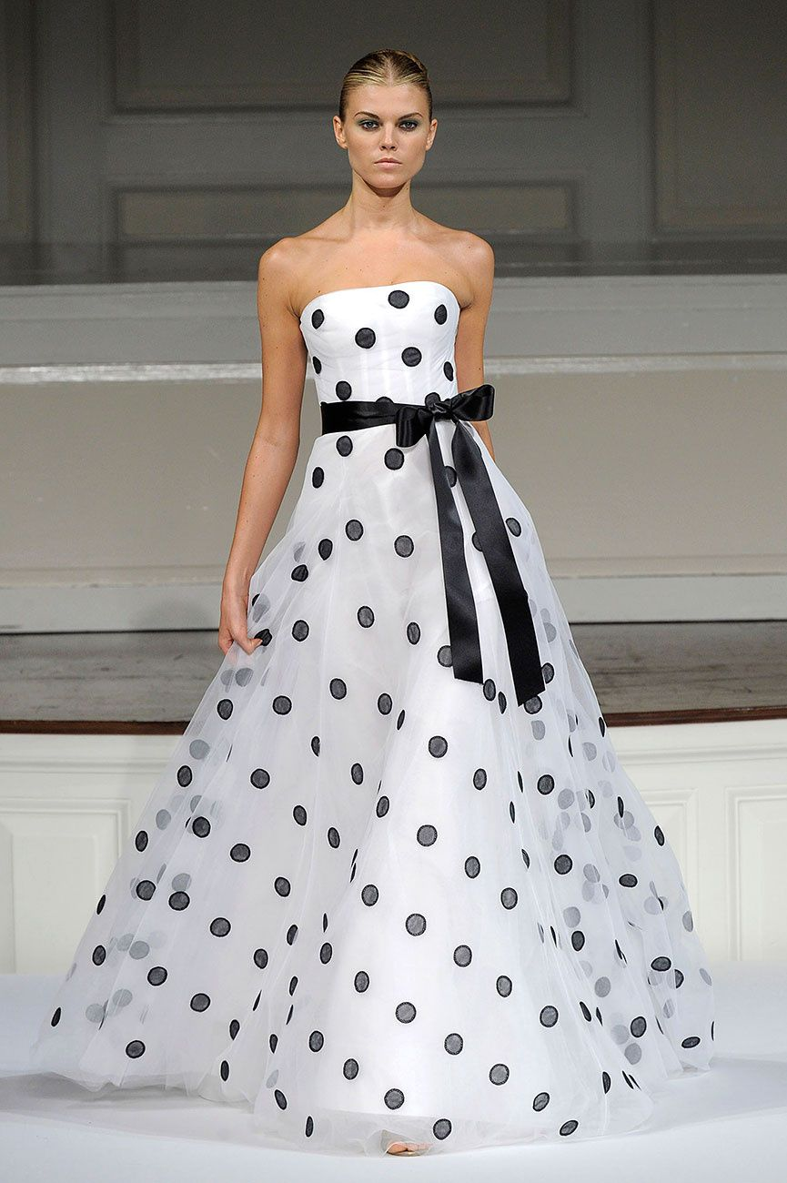 Black & White un Oscar de La Renta!! | Dress | Pinterest | Vestidos ...