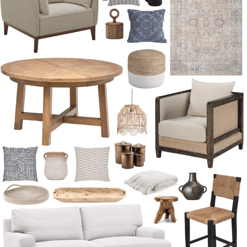 Amazon Home Decor Finds - affordable coastal and modern home decor items - The Coastal Oak Blog January 2020. #homedecor #amazonhome #coastalhome #naturalwood #wooddecor #loloirugs #amazondecor