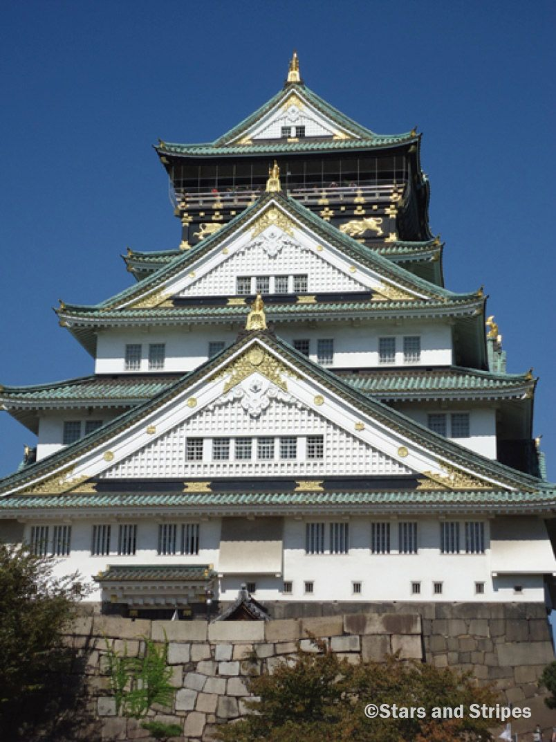 Osaka Castle was the site of the last pitched battle between armies of samurai in Japanese history. It is one of the most historically significant castles in Japan. (Matthew Burke/Stars and Stripes) #Japan #temples