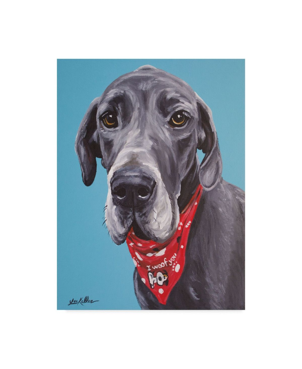 Trademark Global Hippie Hound Studios Great Dane Jake Canvas Art
