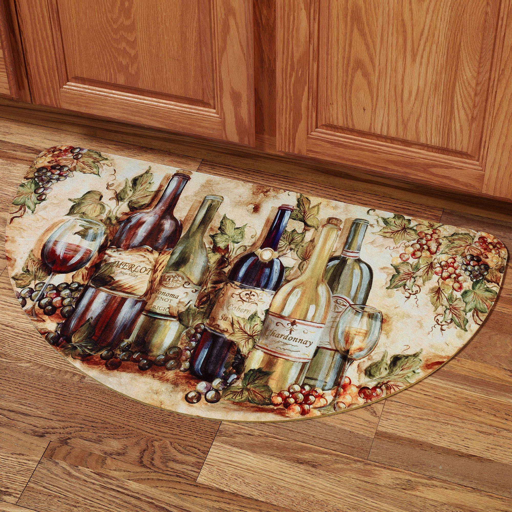 Grapevine Slice Mat Multi Warm Wine Decor Kitchen Wine Theme Kitchen Wine Decor