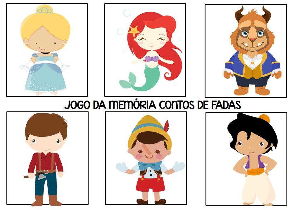 Jogo Pedagogico Da Memoria Conto De Fadas Em 2020 Conto De Fadas Fadas Atividades Para Educacao Infantil