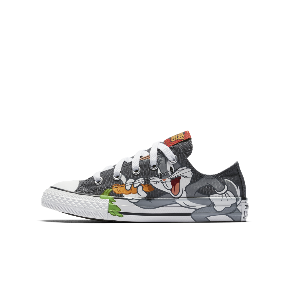 6692ef05bf5420 Converse Chuck Taylor All Star Looney Tunes Low Top Little Kids  Shoes Size  13C (Grey)