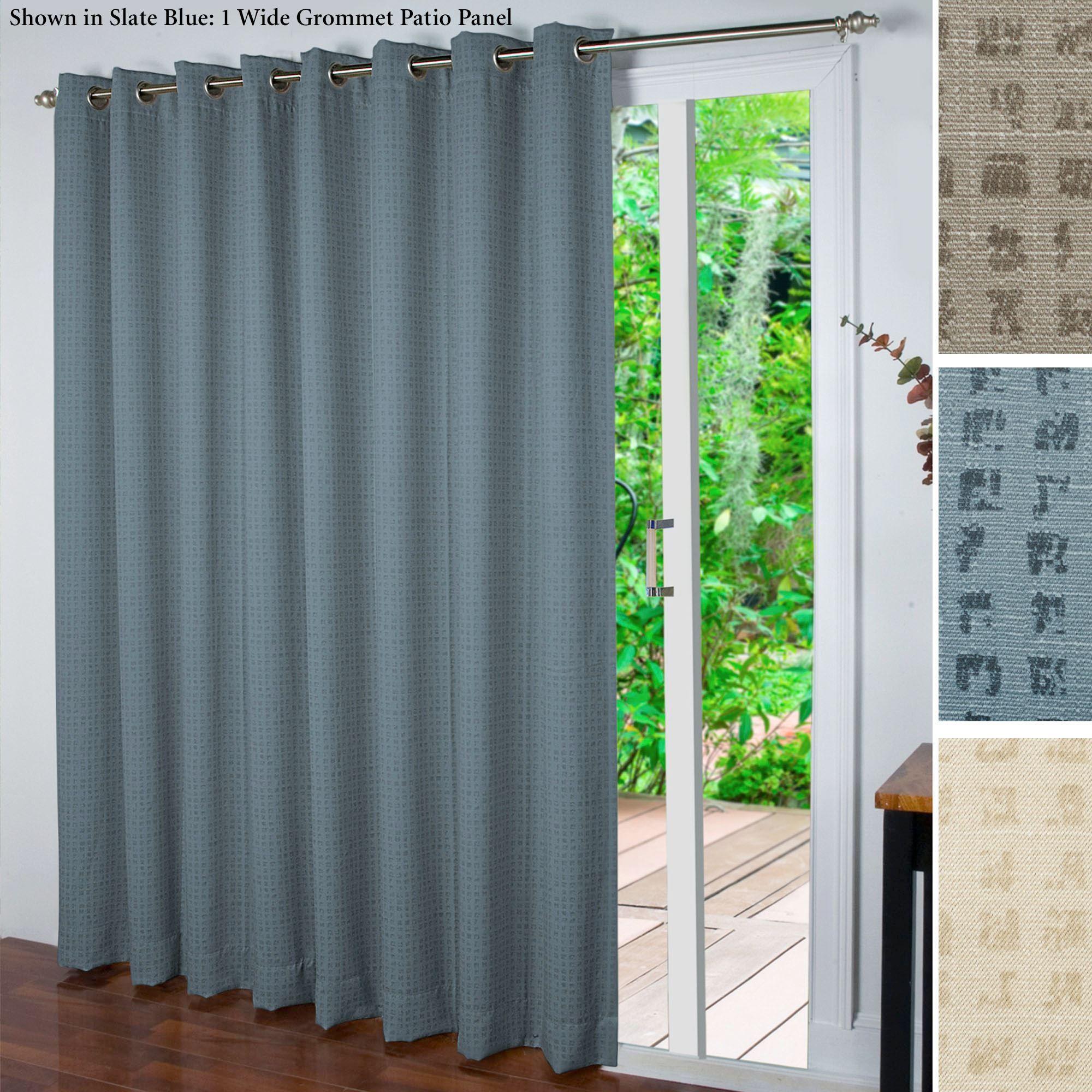 Spanish Steps Room Darkening Grommet Patio Panel Sliding Door Curtains Patio Curtains Patio Door Curtains