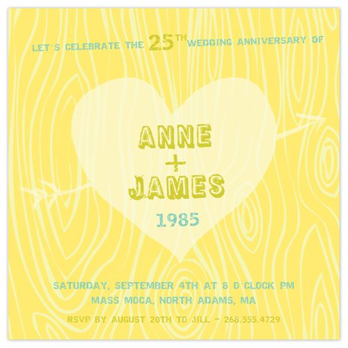 Sweethearts' Wedding Anniversary Party Invitations