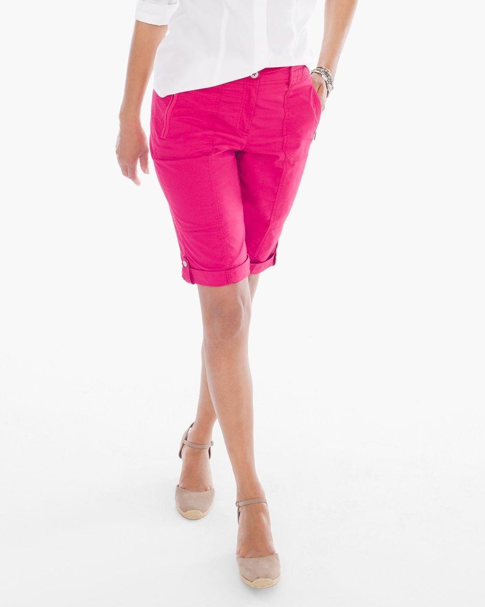Chico's Women's Casual Roll-Cuff Shorts