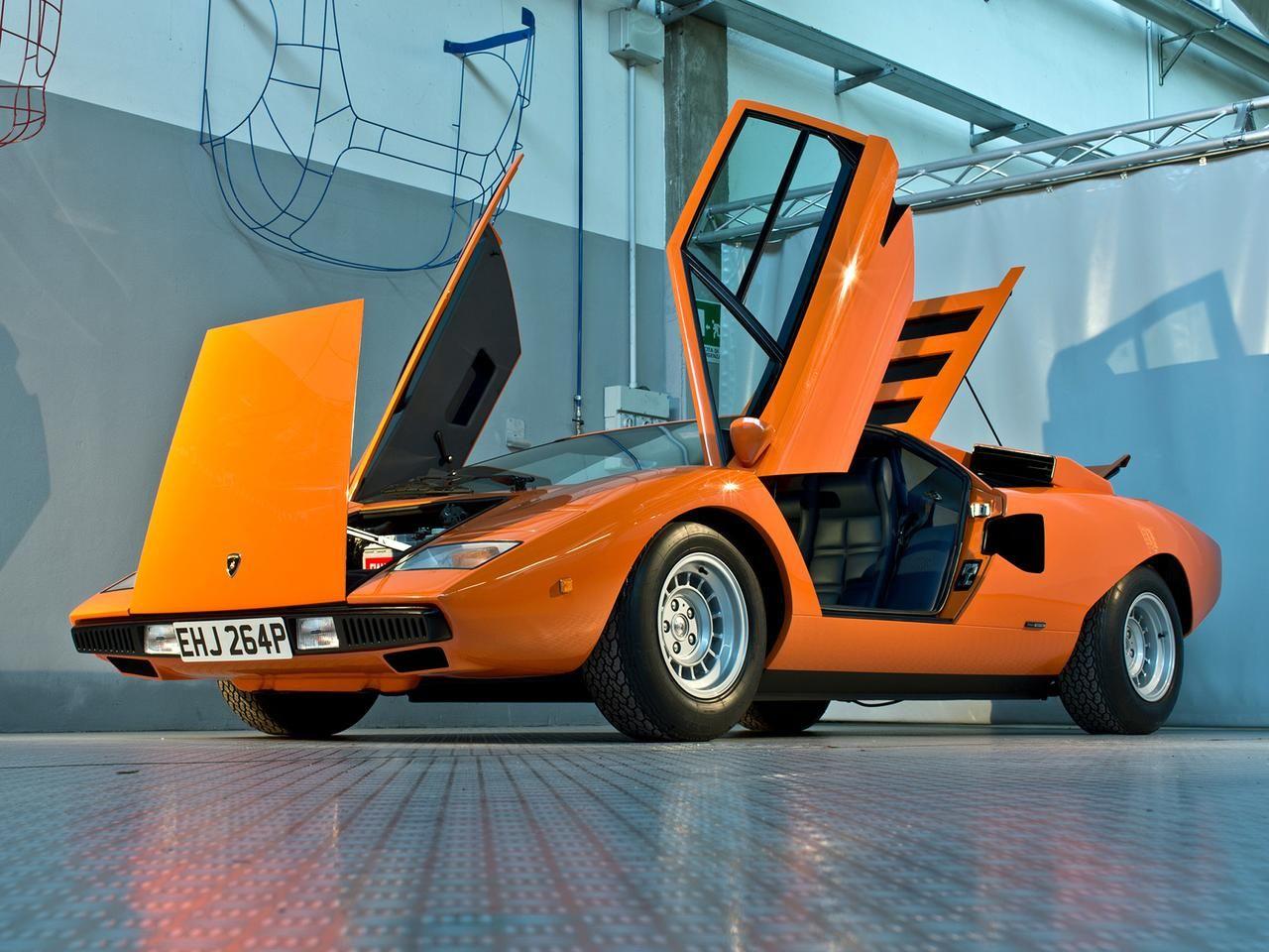 1974 Lamborghini Countach Lp400 Engine Pinterest