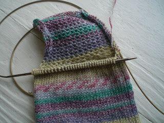 Knitting Socks Tutorial : Magic loop tutorial part the heel knit socks beginner