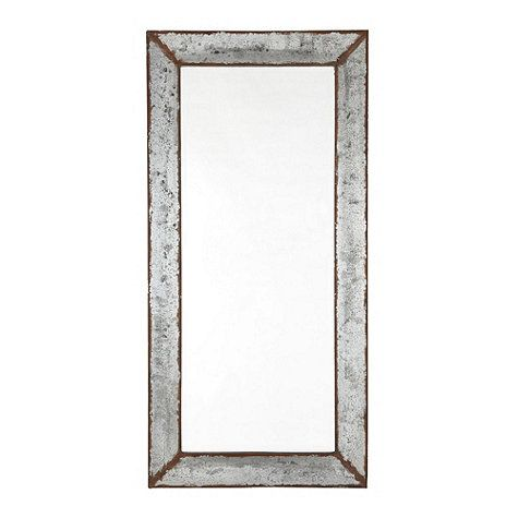 Sue this could be hung horizontally in tylers bath zinc framed mirror ballard designs
