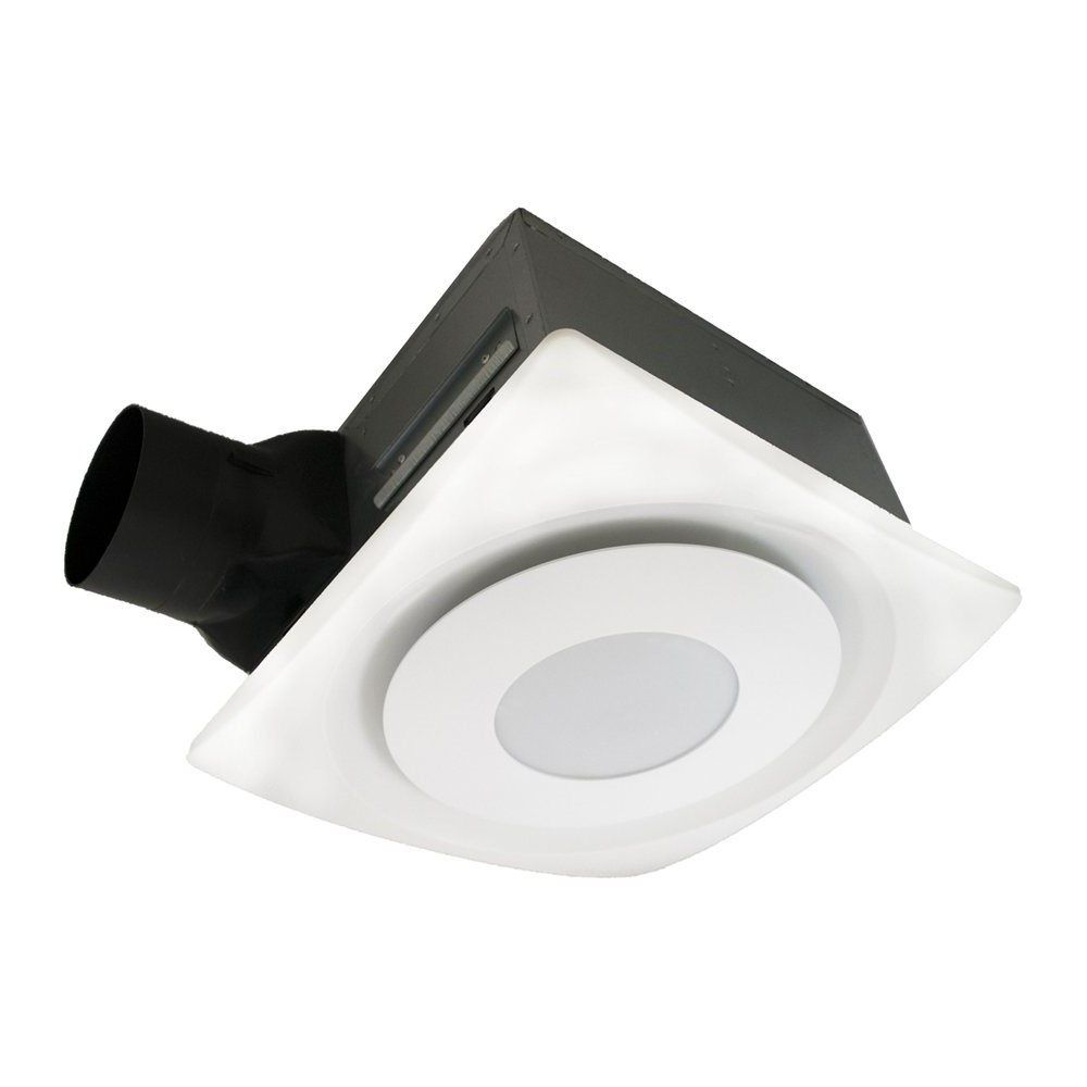aero pure llc apsl g6 slimfit bathroom fan with 13 watt led light