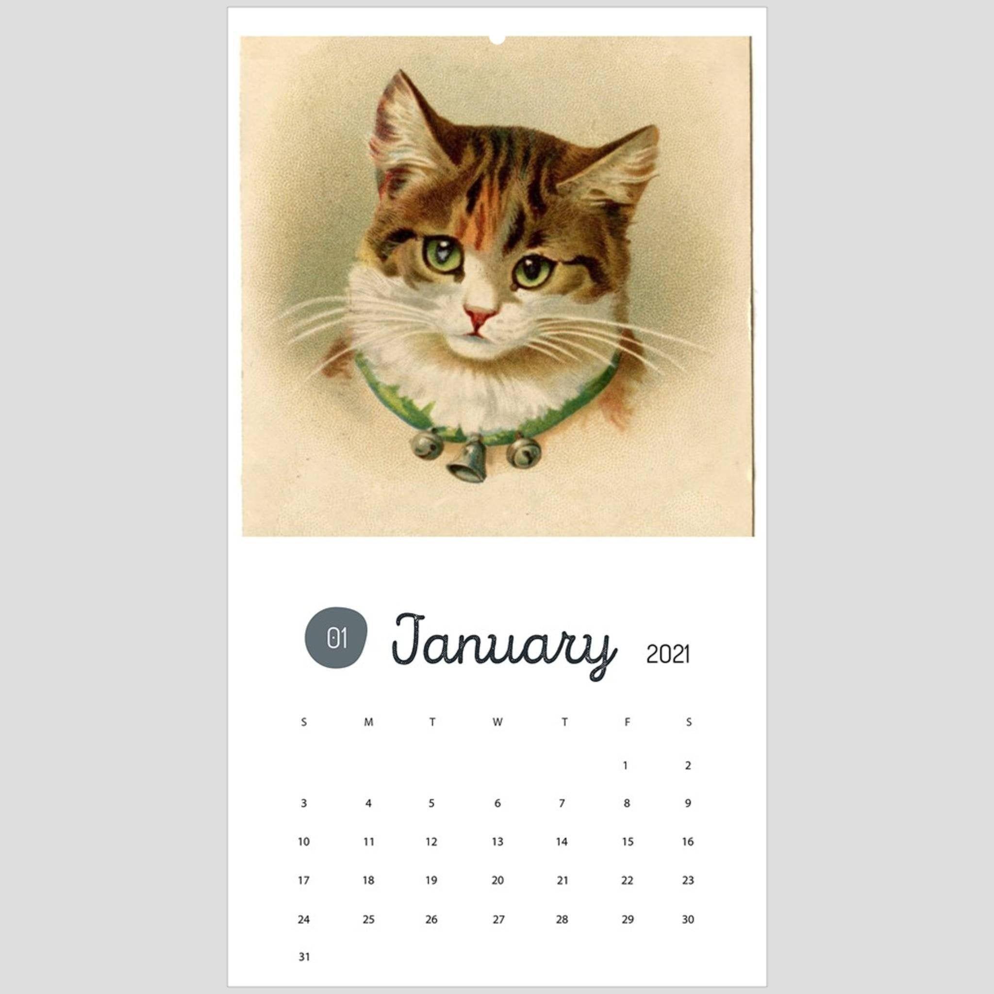 Vintage Cat Calendar 2020 Victorian Kitten Wall Art 9 5 X 17 25 Victorian Cat Calendar Vintage Cat Print Vintage In 2020 Vintage Cat Cat Calendar Vintage Calendar