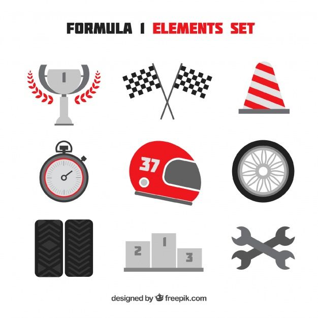 Download Collection Of F1 Racing Elements For Free (With