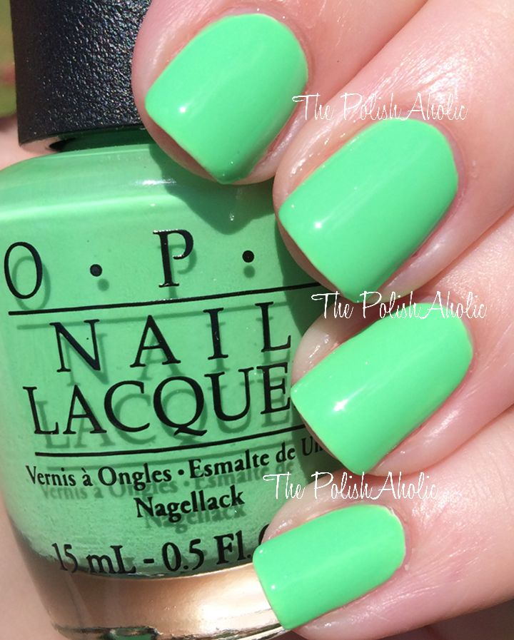 OPI Neons Collection Swatches - You Are So Outta Lime! | OPI ...