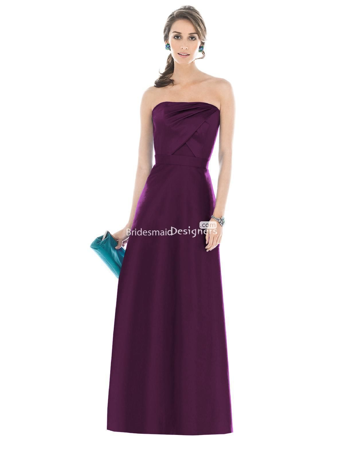 1000  images about Plum Bridesmaid Dresses on Pinterest  Satin ...