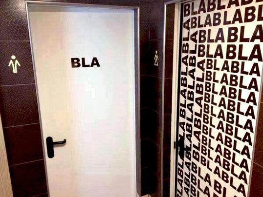 Ooit zon originele wc deur tegengekomen?; schule pinterest