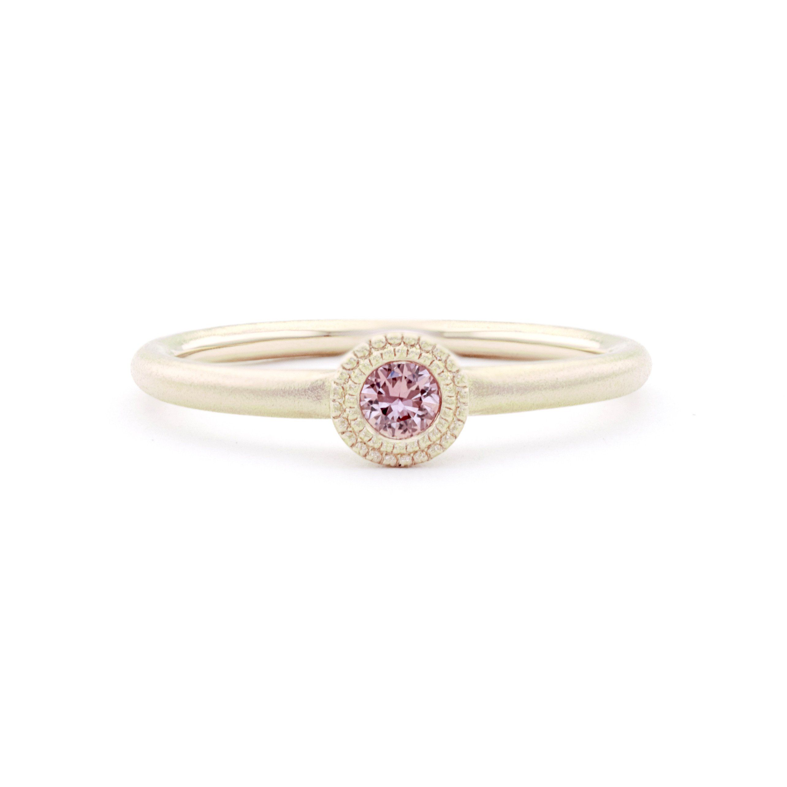 Bloom stacking ring with padparadscha sapphire sapphire ring and